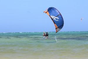 Tobago shallow warm waters