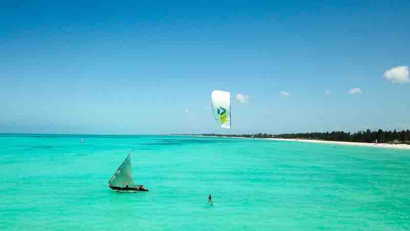 Kiteboarding in Zanzibar