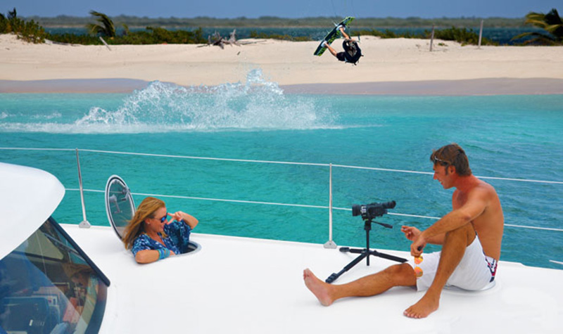 Kite Filming with Zenith Ocean Voyages
