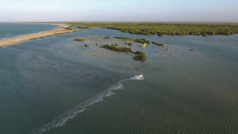 Drone shot of Barra Grande