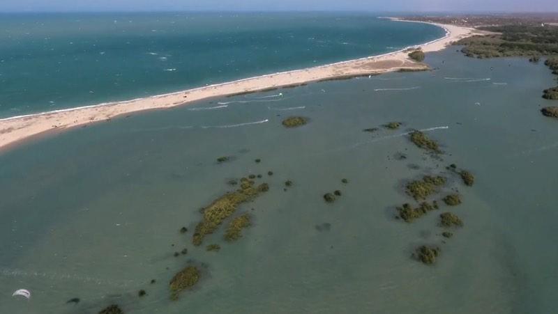 Kiting in Barra Grande, Brazil