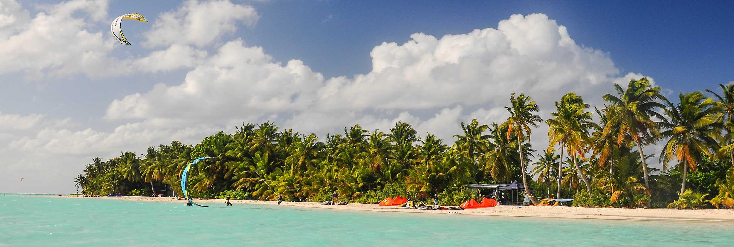 Cocos Keeling Islands hero Tom Hebert kitesurfing