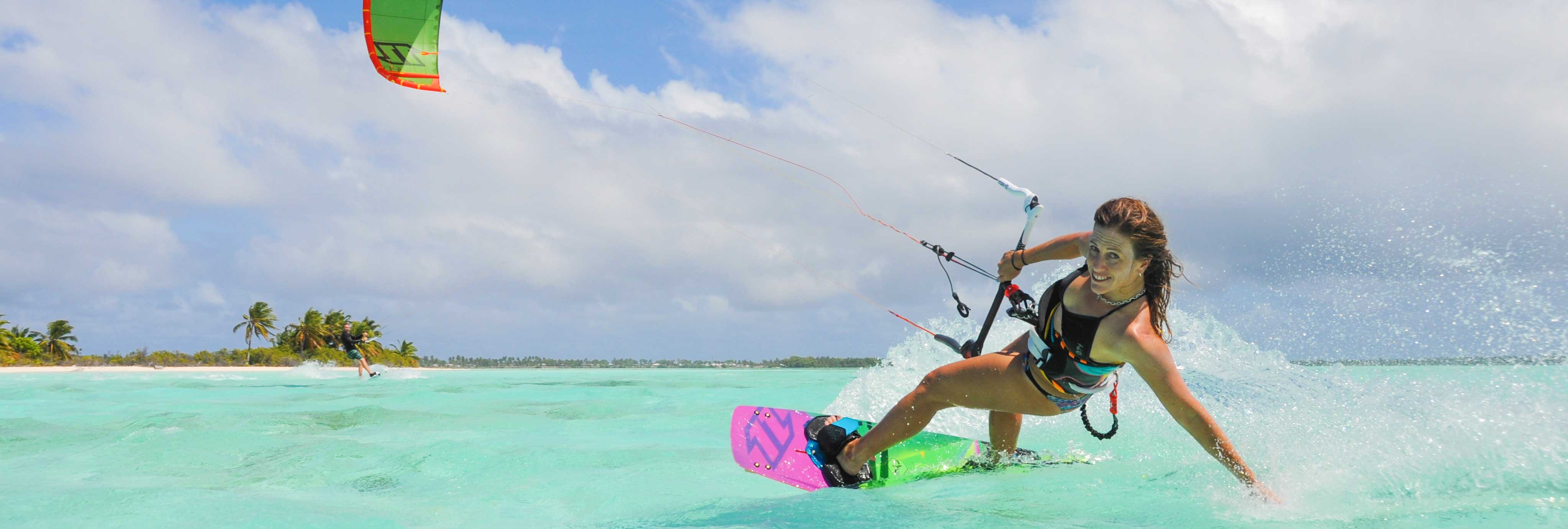 Cocos Keeling Islands kitesurfing girl