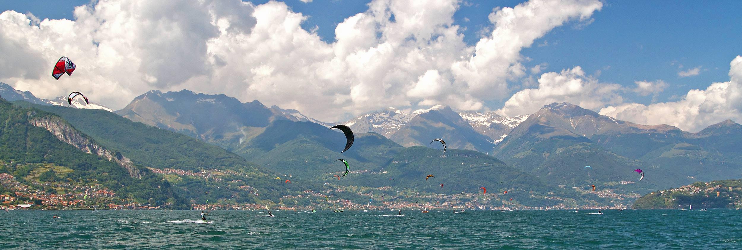 Kitesurfing on Lake Como in Italy for the travelling kitesurfer