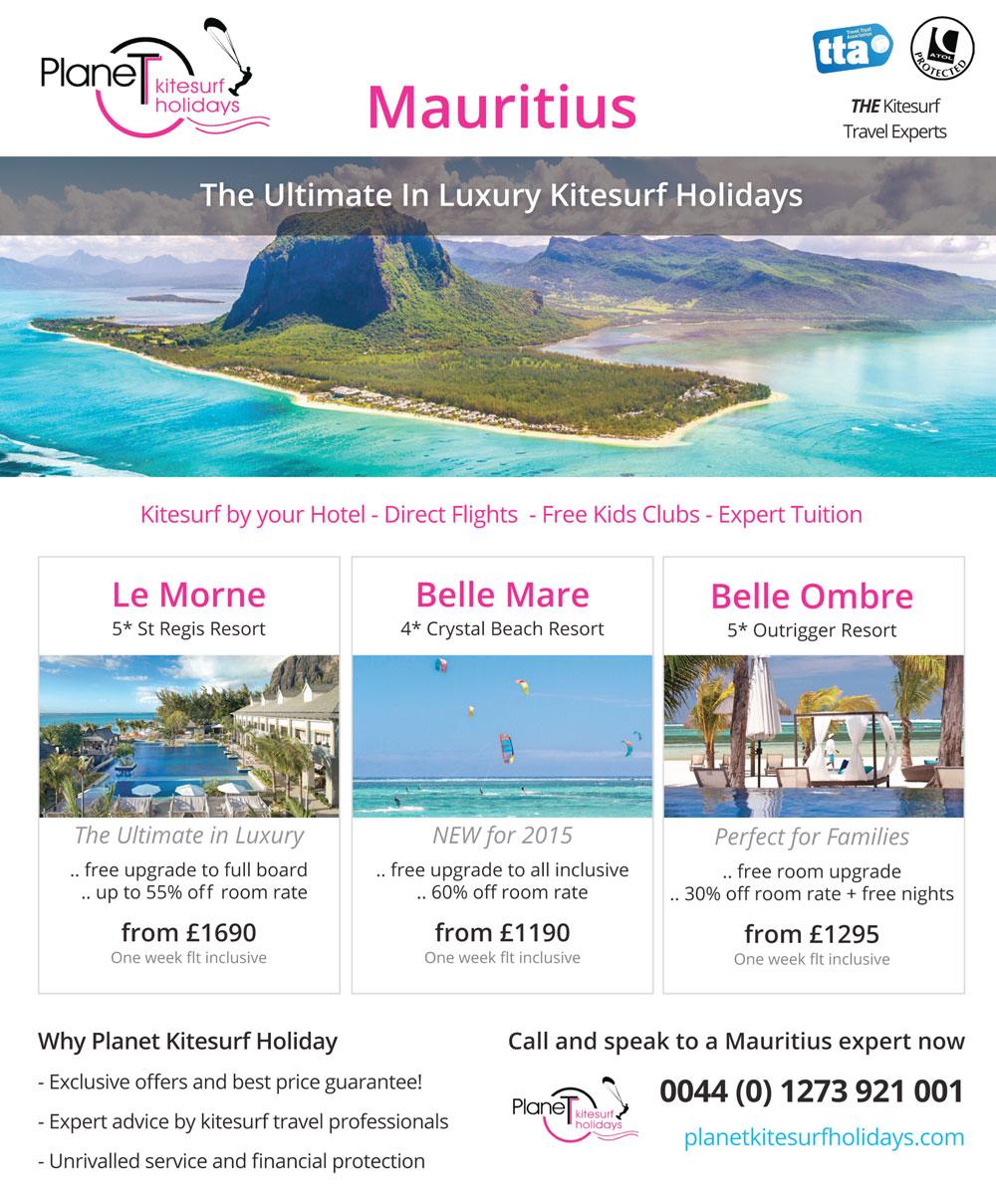 Planet Kitesurfing Mauritius offers