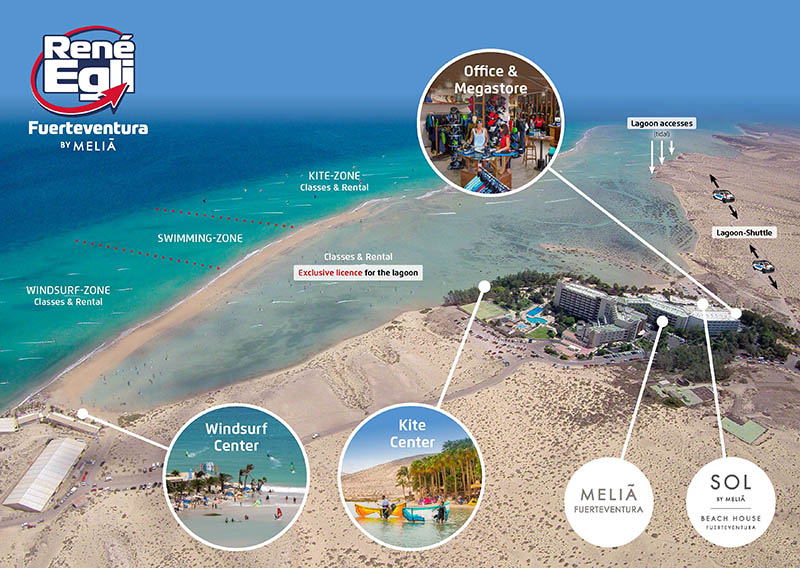 Kite Map Sotavento Fuerteventura