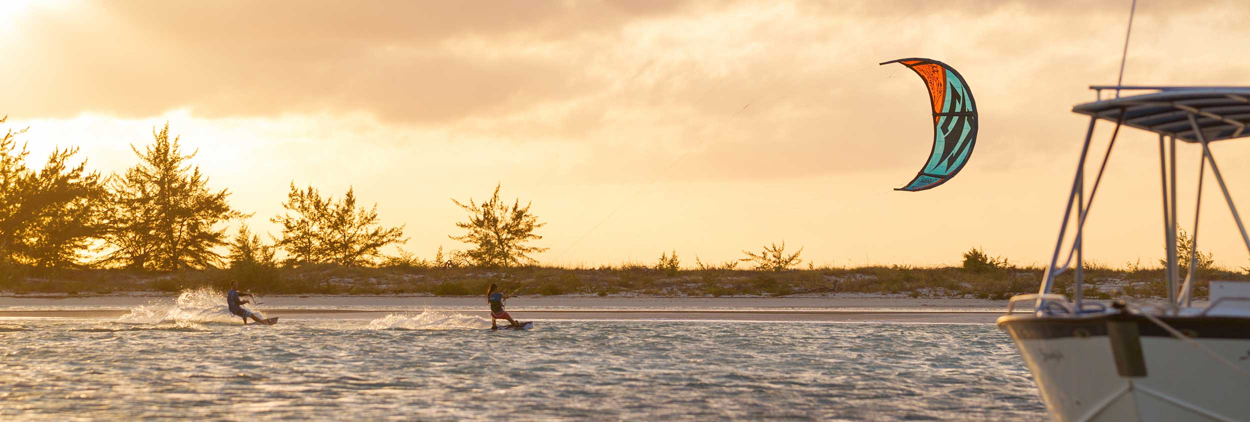 Hope Levin Kiteboarding in the Turks and Caicos Islands