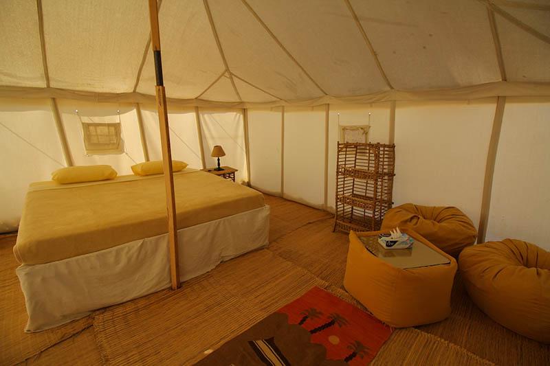 In-tent shot!