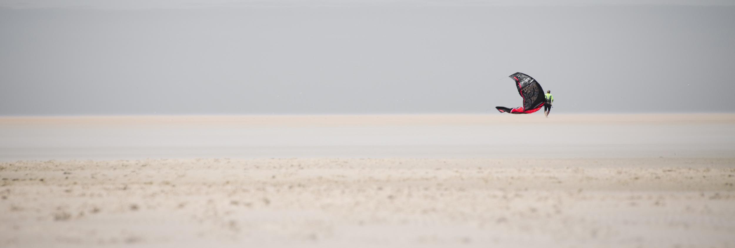 Kitesurfer at Dakhla, Morocco by Maria Enfondo