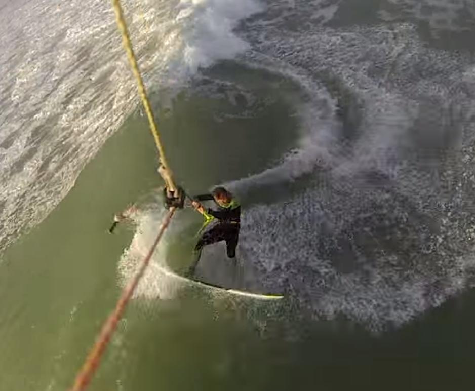 Lee Pasty Harvey kite wave riding in Dakhla Morocco
