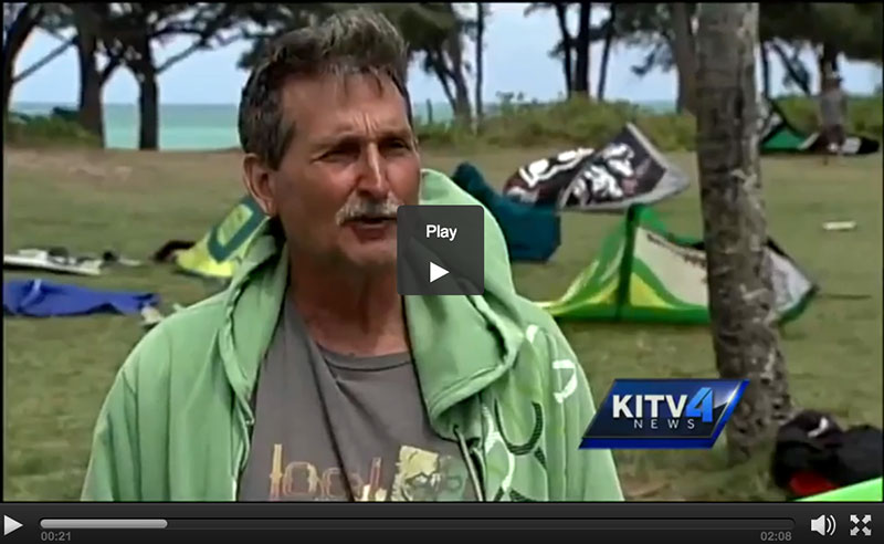 Don Farley, Kailua kitesurfer given a ticket for launching and landing kites