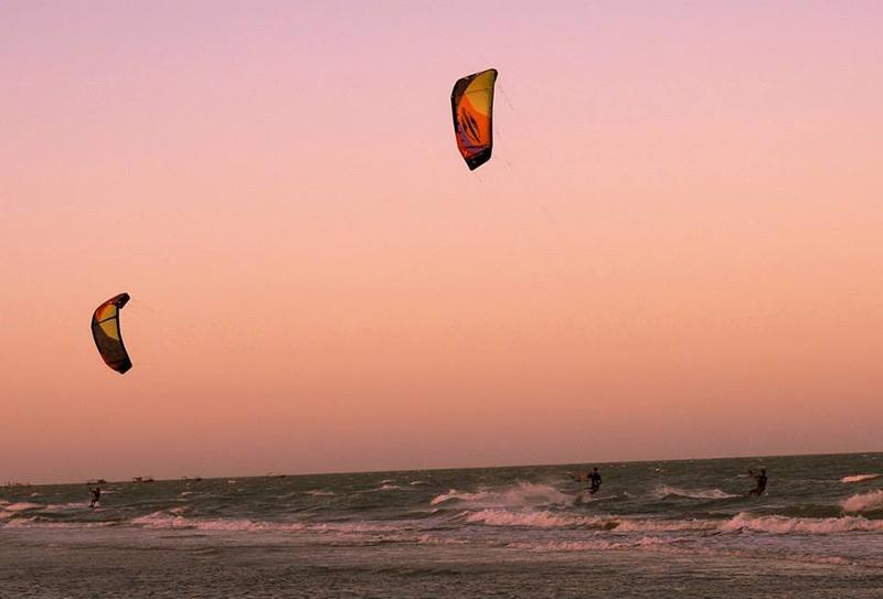 Kiteworld kitesurf kiteboarding Tremembe Kite Mansion sunset sessions