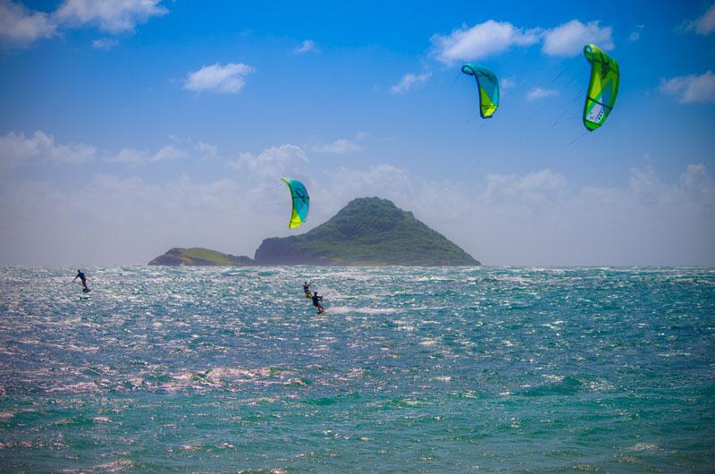 St Lucia kitesurfing