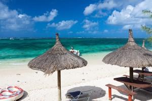 Outrigger Mauritius beach view Kiteworld travel