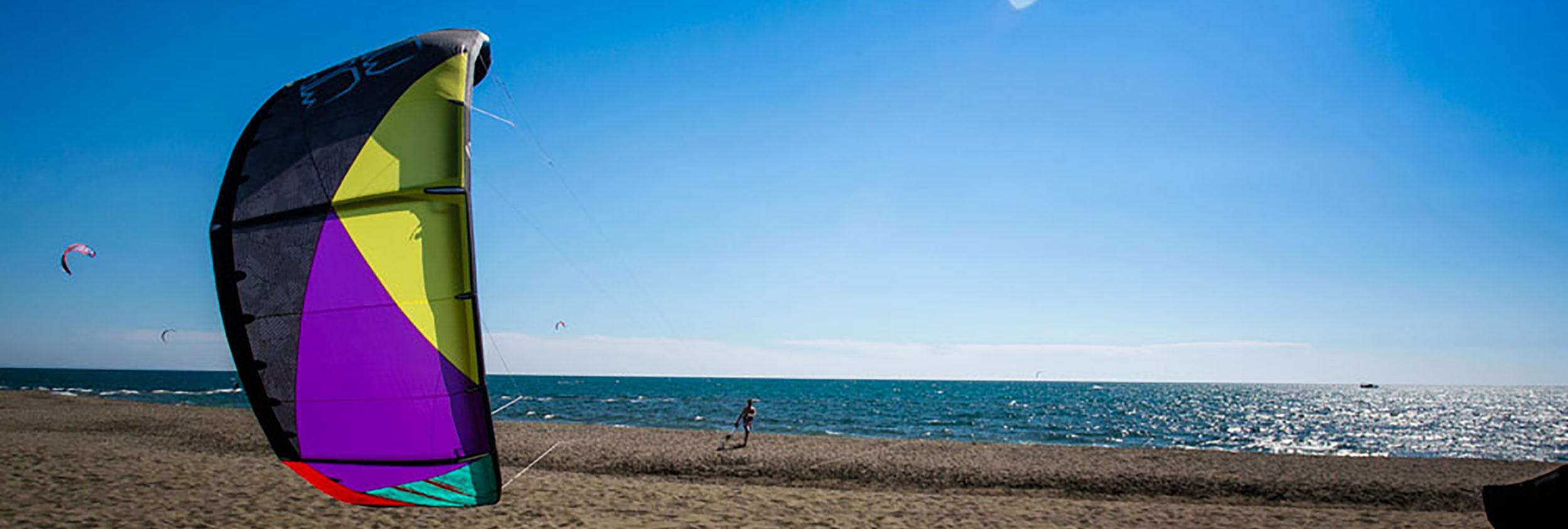Kitesurfing in Ulcinj, Montenegro by KiteWorldWide