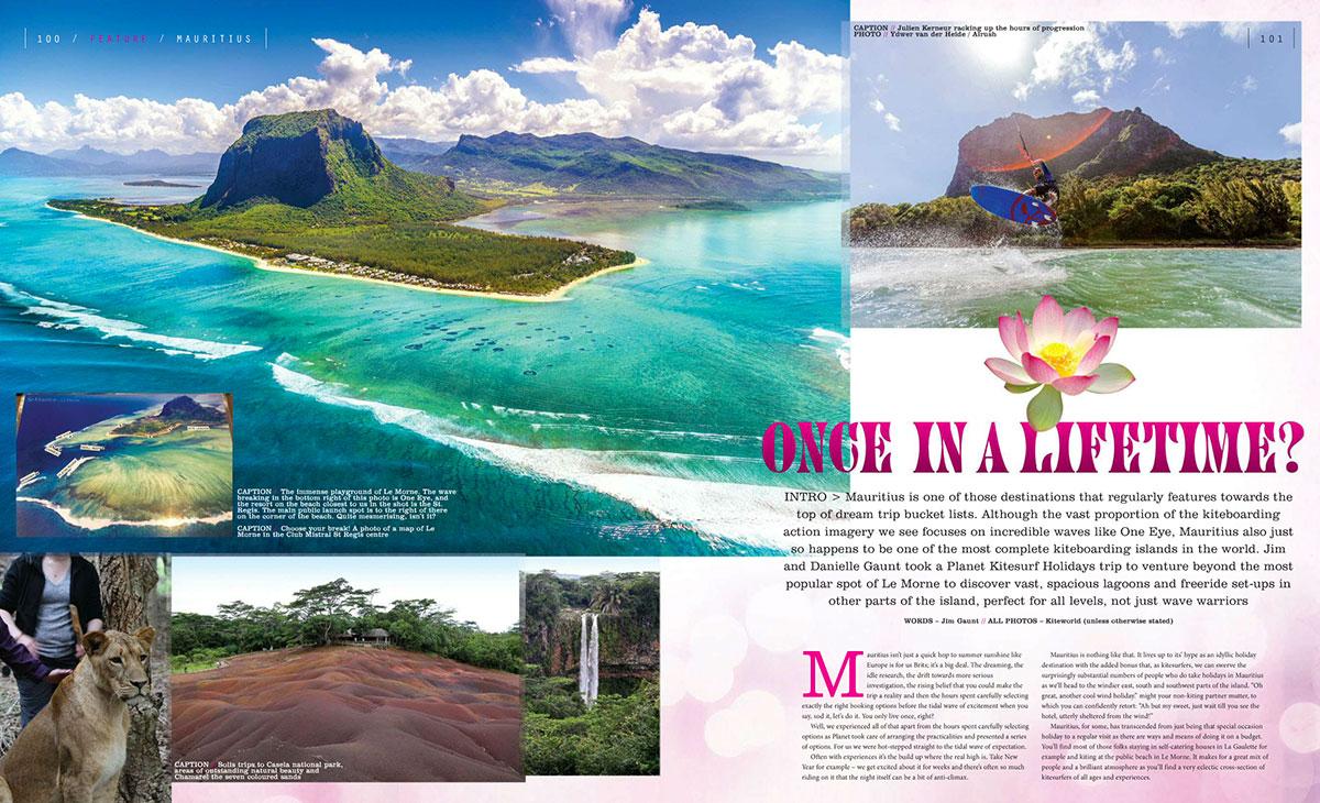 Kitesurfing guide to Mauritius in Kiteworld magazine issue 77