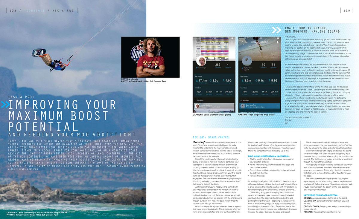 Improve your boost in Kiteworld kitesurfing magazine issue 77