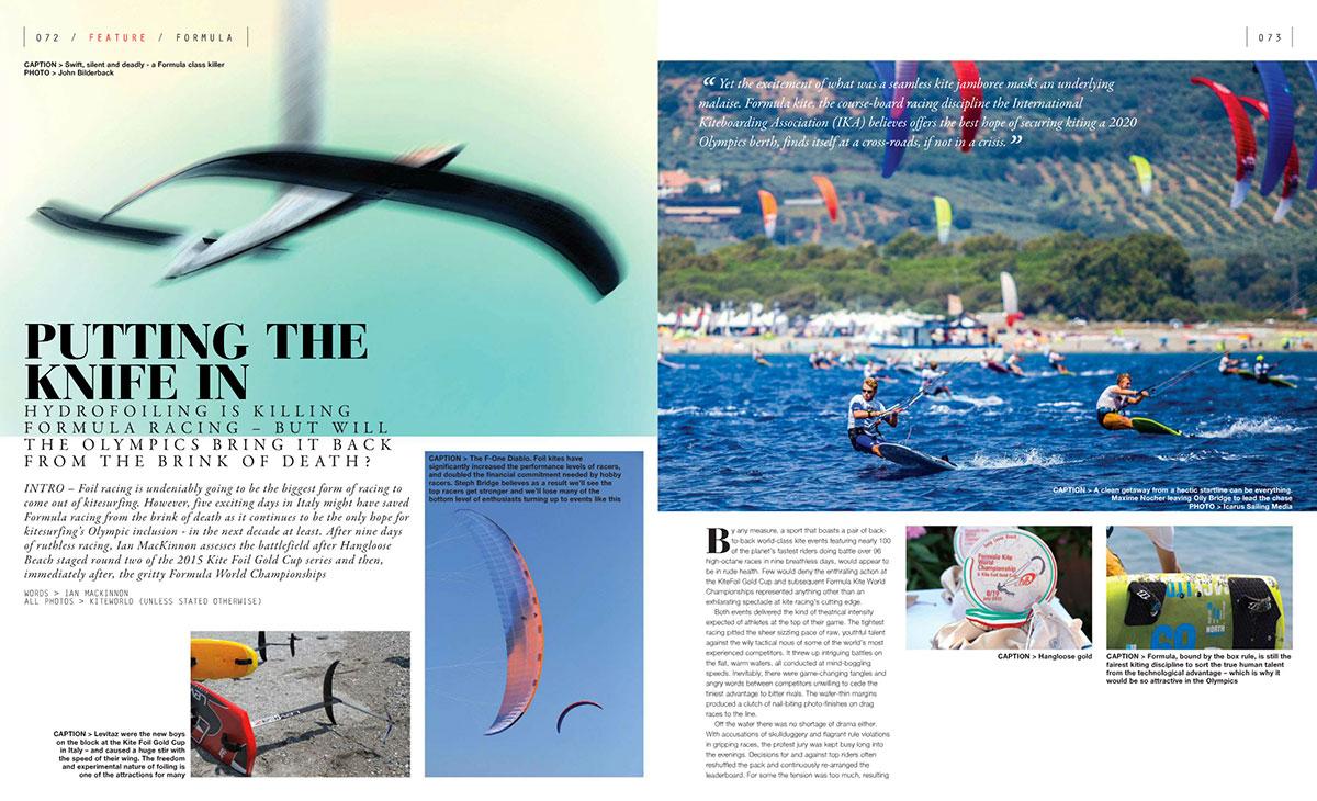 Kitesurf racing feature in Kiteworld magazine issue 77