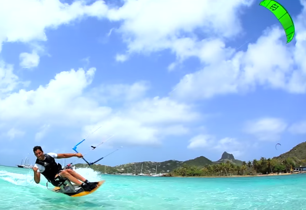 Disabled Kitesurfer in the Grenadines learns to jump video by Jeremie Tronet