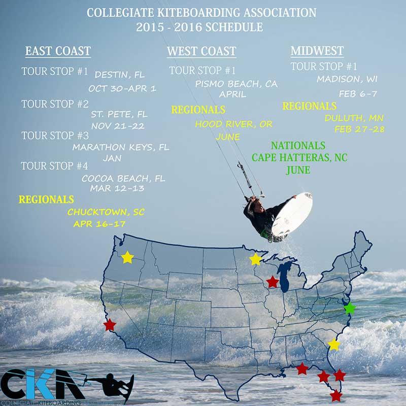 College Kiteboarding Association 2016
