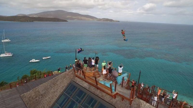 Necker island Nick Jacobsen kitesurf jump