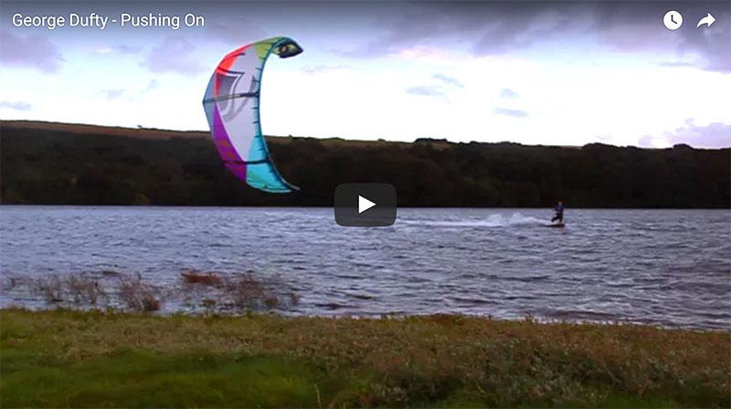 George Dufty UK freestyle Kitesurfing video