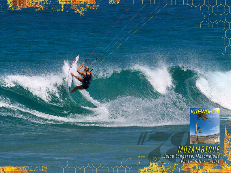 Kiteworld Magaine issue #78 wallpaper Jalou Langeree North Kiteboarding Mozambique