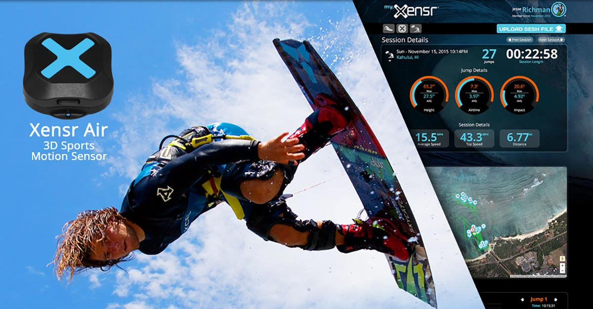 Jesse Richman kiteboards with the Xensr Air device