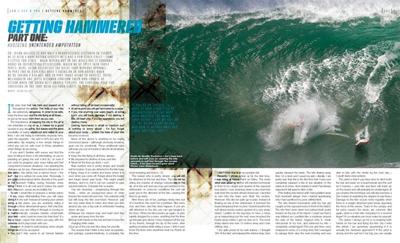 Getting Hammered kitesurf wave technique Kiteworld issue 79