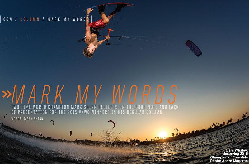 Mark Shinn kitesurfing column Mark My Words issue 79