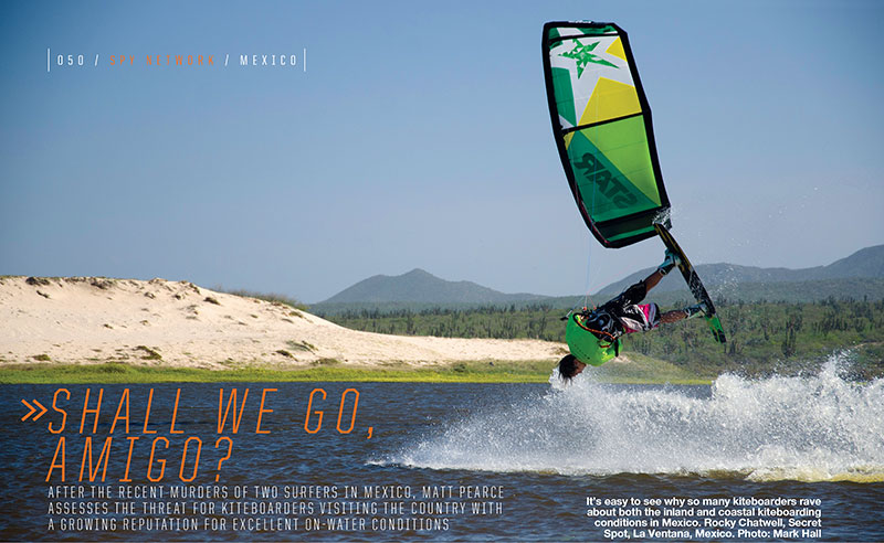 Kitesurfing in Mexico issue 79
