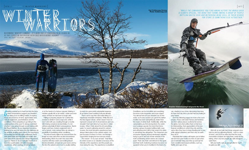 Winter Warriors cold water kitesurfing feature