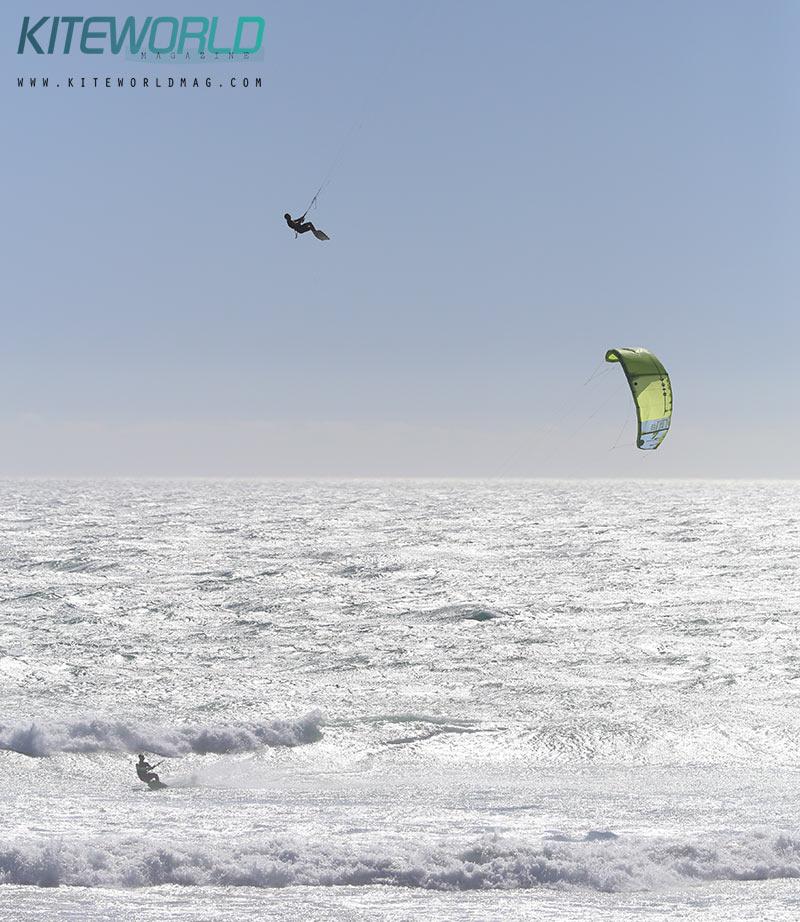 Cape Town kitesurfer boosting high