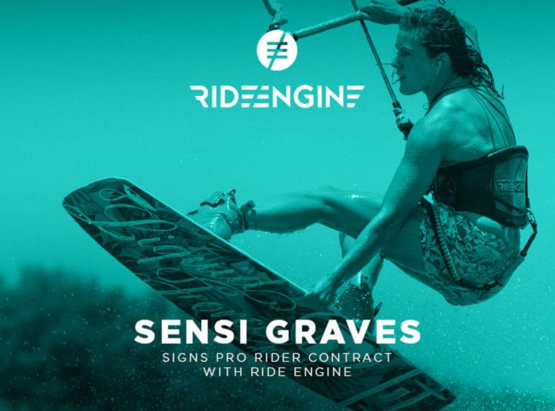 Sensi Graves joins Ride Engine Kitesurfing news Kiteworld Magazine 2016