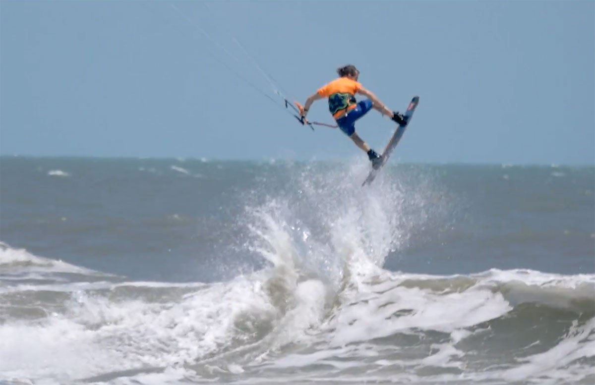 Alby Rondinha kitesurfing kicker hits Brazil