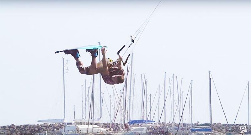 How to front roll - Ewan Jaspan. Kitesurfing technique Kiteworld 2016