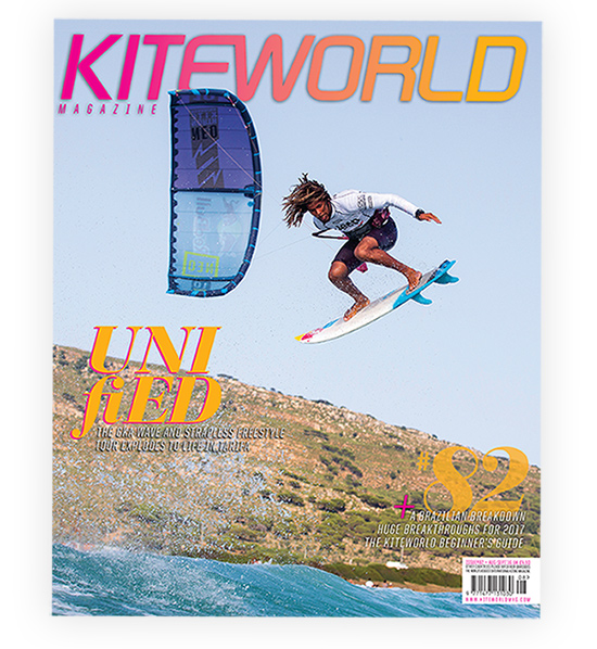 Airton Cozzolino on the cover of Kiteworld issue 82