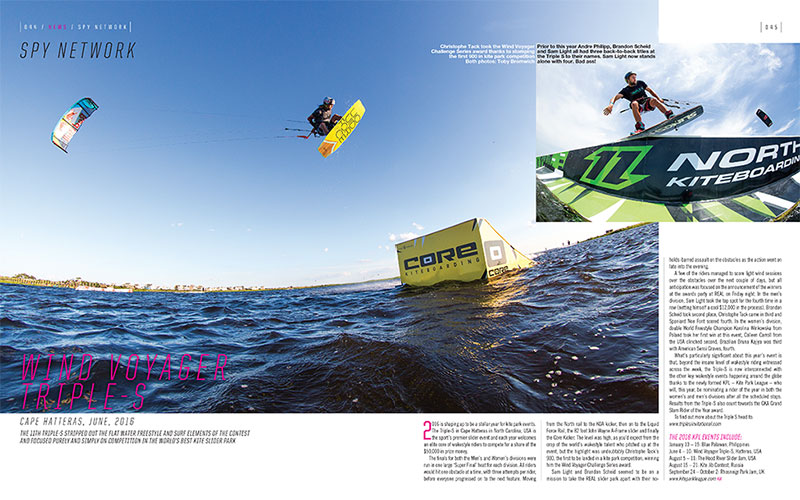 Wind Voyager Triple S results 2016 Kiteworld Magazine issue 82