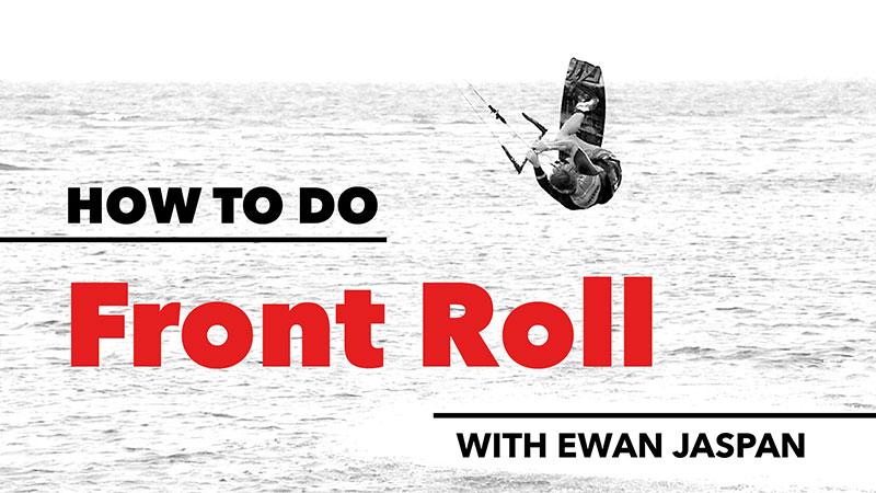 How to back roll - Ewan Jaspan. Kitesurfing technique Kiteworld 2016