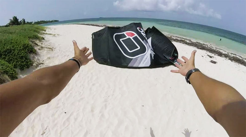 Jake Kelsick - Kiteboarding how to self launch and land