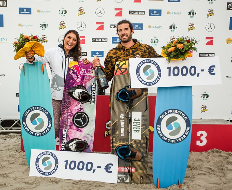 Alex and Bruna GKA riders of the year