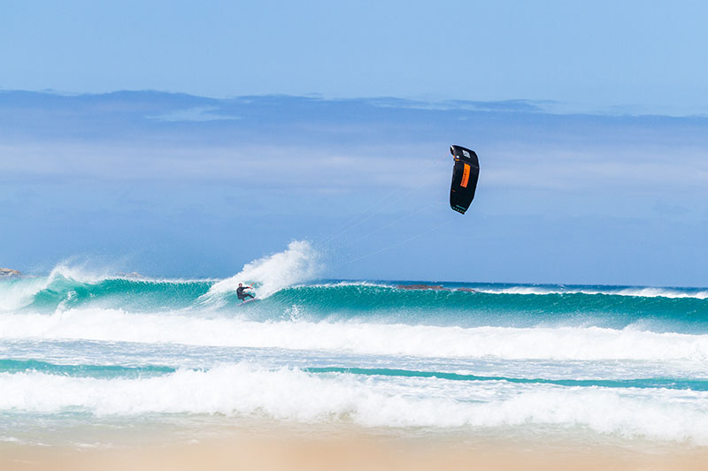 Kitesurfing in Scarborough in Cape Town