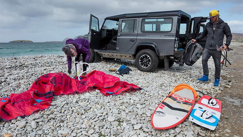 Exploring Achill Island coastline, Ireland