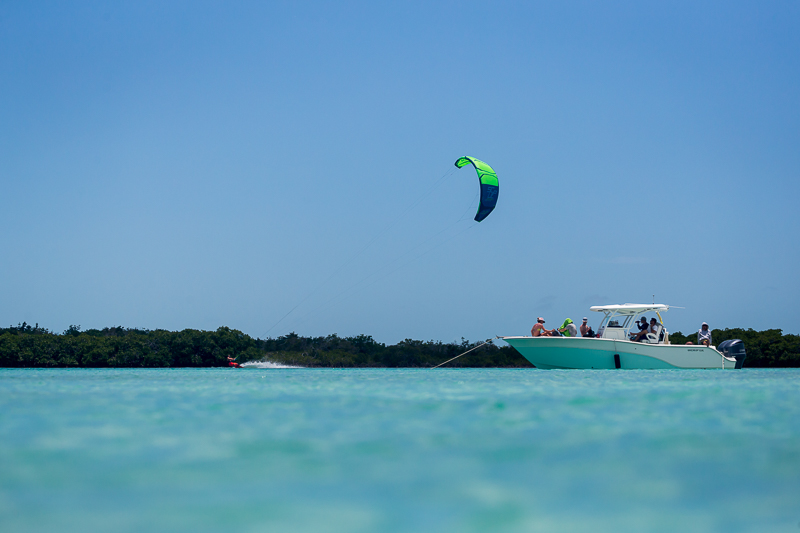 Flat water kiteboarding Turks and Caicos
