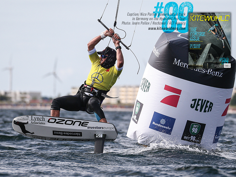 Nico Parlier powers into a tack in Germany - Kiteworld issue 89 gallery