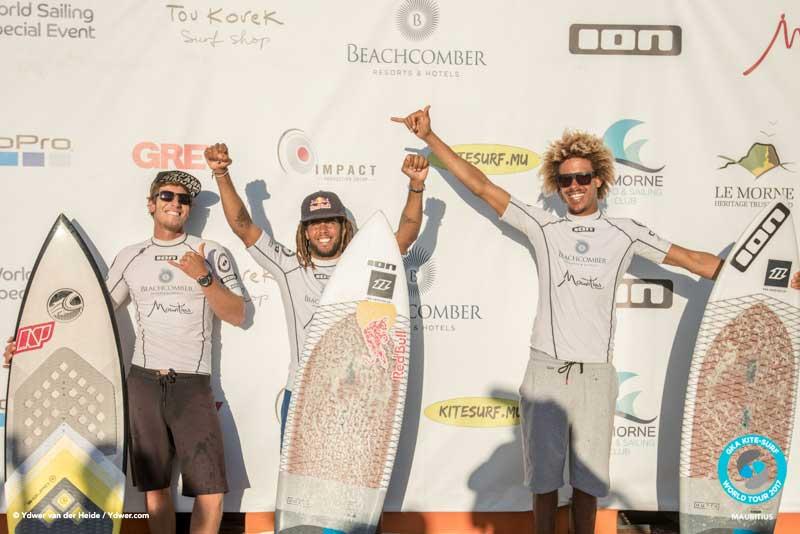 The tour top three GKA Kite-Surf