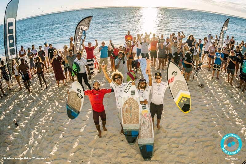 The GKA Mauritius finalists GKA Kite-Surf