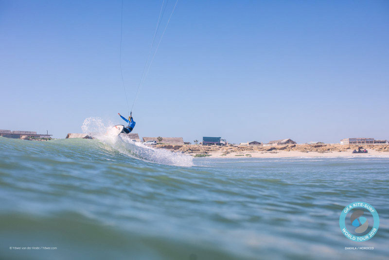 Keahi cracks one off the top - GKA Dakhla 2018