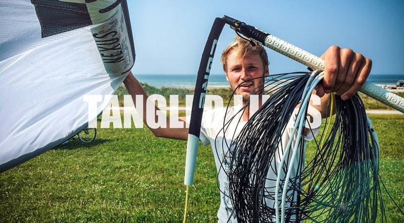 Tangled kite lines - Ben Beholz