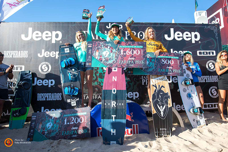 Jeep Tarifa Pro 2018 - Air Games Women's podium